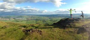 You can see for miles and miles and miles from atop the Dumyat summit.